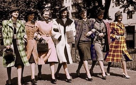 Мода 40-х годов. Эти непростые 40-