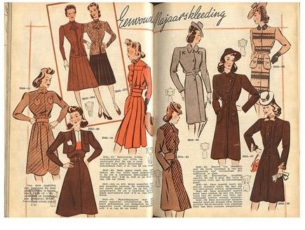Мода 40-х годов. Эти непростые 40-е...